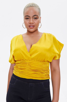 Forever 21 Plus Size Plunging Satin Top