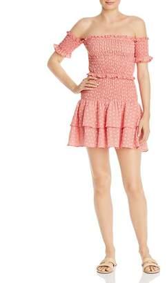Marianna leRumi Smocked Off-the-Shoulder Top & Mini Skirt Set