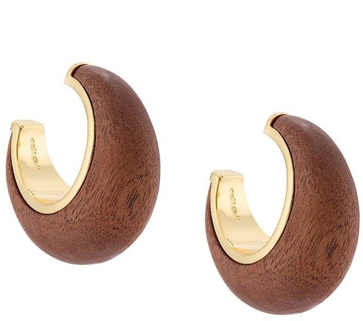 Cult Gaia Wooden Hoop Earrings