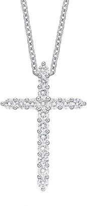 Memoire 18K 0.75 Ct. Tw. Diamond Cross Necklace