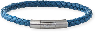 Tateossian Men's Charles Leather Bracelet, Navy