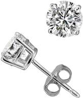 PARIKHS Near Colorless Round Diamond stud 14K White Gold (0.08 ctw, Color - , Clarity - SI2)