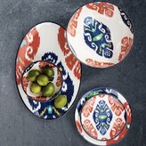Ikat Melamine Dinner Plates, Set of 4