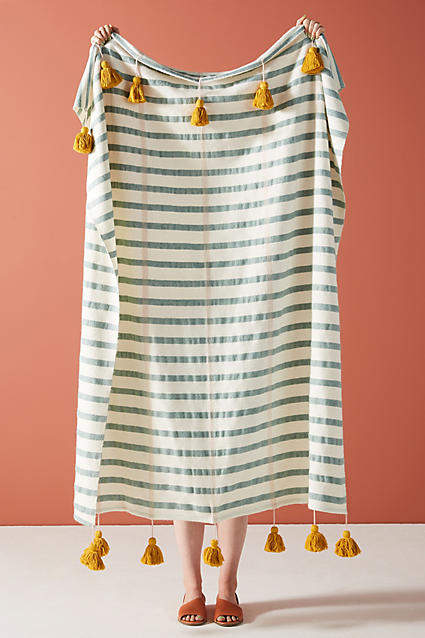 Anthropologie Woven Nelly Throw Blanket