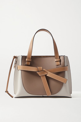 Loewe Gate Mini Color-block Leather Tote - Taupe