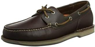 Rockport Men's Perth Boat Shoes, Brown (Tan), 44 EU
