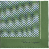 Salvatore Ferragamo Animal Print Silk Pocket Square