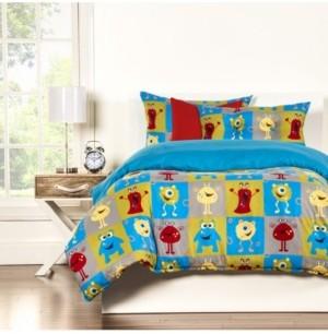 Crayola Monster Friends 6 Piece Queen Duvet Set Bedding