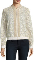 T Tahari Giselle Zip-Front Jacket