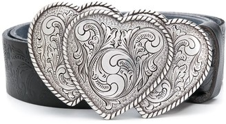 Jessie Western heart buckle belt