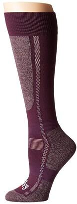 Hot Chillys Premium Low Volume Socks (Rich Grape/Heather) Women's Crew Cut Socks Shoes