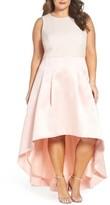 Eliza J Plus Size Women's Crepe & Mikado High/low Gown