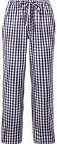 Sleepy Jones - Marina Gingham Cotton Pajama Pants - Storm blue