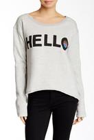 Junk Food Clothing Hello Hi-Lo Graphic Sweatshirt