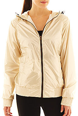 JCPenney Xersion Full-Zip Smocked-Trim Hooded Jacket - Talls