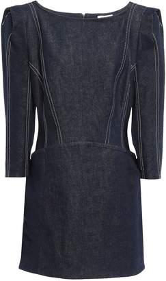 Thierry Mugler Lace-up Denim Mini Dress