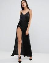 Boohoo D Ring Side Split Maxi Skirt