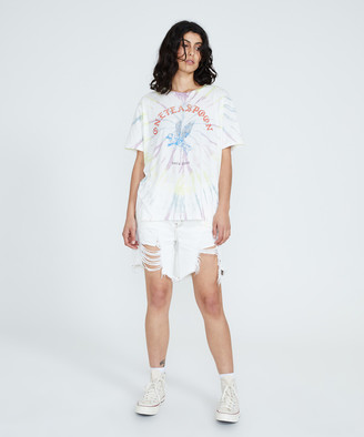 One Teaspoon Bower Bird Boyfriend T-Shirt Tie Dye