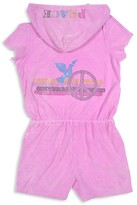 Butter Shoes Girls' Mineral Wash Terry Romper - Little Kid
