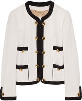 Moschino Silk-trimmed wool-blend bouclé jacket