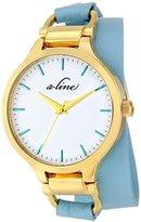 A Line a_line Women's AL-80027-YG-02-TURAS Gemini Analog Display Japanese Quartz Blue Watch
