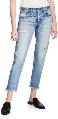 Moussy Kelley Tapered Distressed Jeans