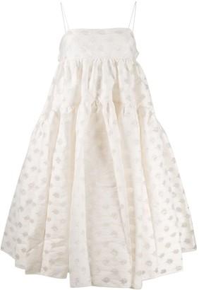 Cecilie Bahnsen Flared Polka Dot Dress