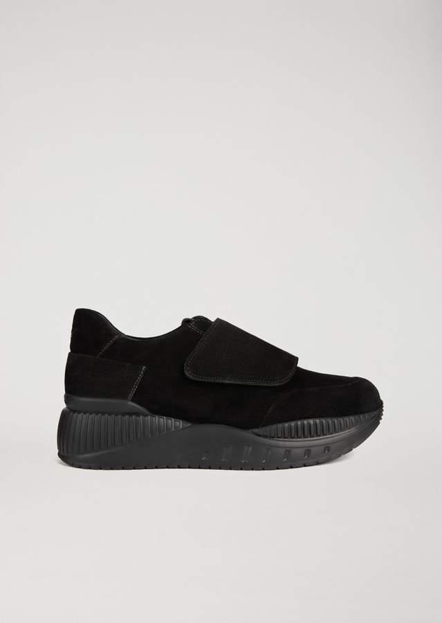 Emporio Armani High Sole Suede Sneakers