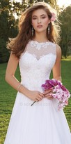 Camille La Vie Beaded Illusion Honeycomb Wedding Dress