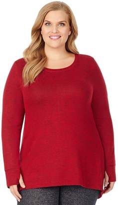 Cuddl Duds Plus Size Soft Knit Long Sleeve Tunic