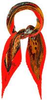 Hermes L'Atlantide Silk Plissé Scarf