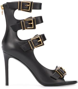 Balmain buckled strap sandals