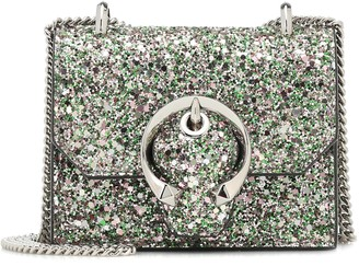 Jimmy Choo Paris Mini glitter crossbody bag