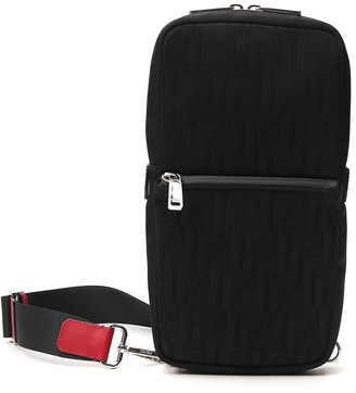 Fendi Monogram Print One-Shoulder Backpack