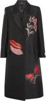 Alexander McQueen Oversized silk-blend jacquard coat