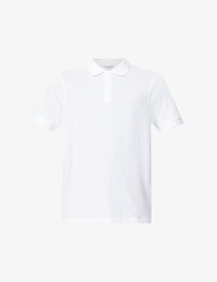 Sunspel Short-sleeved cotton- pique polo shirt