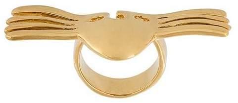 Aurelie Bidermann 'Melina' winged mask ring
