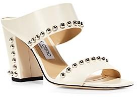 Jimmy Choo Women's Matty 85 High Heel Square Toe Sandals