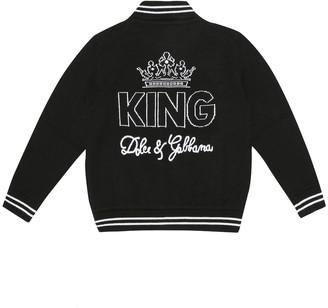 Dolce & Gabbana Kids Wool bomber jacket