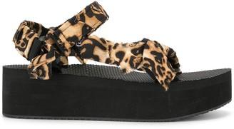 Arizona Love Leopard-Print Platform Sandals