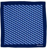 Hardy Amies Navy Hexagon Geo Pocket Square
