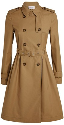 RED Valentino Cotton Gabardine Short Trench Coat