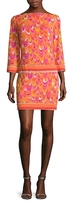 Trina Turk Roccio Print Boatneck Mini Dress