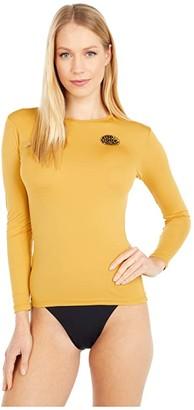 Rip Curl Whitewash Long Sleeve Rashguard (Mustard) Women's Swimwear