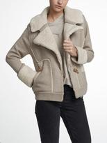 White + Warren Luxe Melange Cozy Knit Moto Jacket