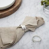 Crate & Barrel Wrap Silver Napkin Ring