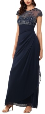 Xscape Evenings Beaded-Top Gown