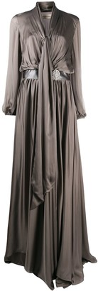 Alexandre Vauthier Draped Silk Maxi Gown