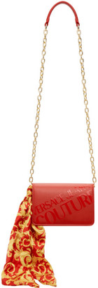 Versace Jeans Couture Red Institutional Logo Scarf Crossbody Bag