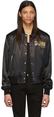 Amiri Black Players Club Bomber Jacket